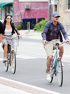 Justin Timberlake, Jessica Biel Bike & Brunch in Toronto