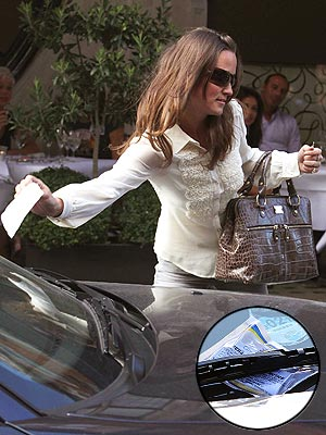 Pippa Middleton Parking Ticket