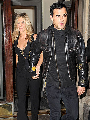 Jennifer Aniston, Justin Theroux at Lifetime Movie Premiere