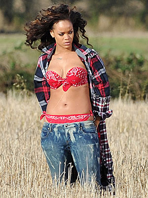 Rihanna (Almost) Naked in Irish Farmer's Field