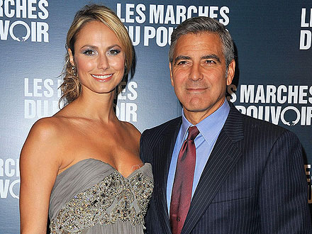 Ides of March: George Clooney & Stacy Keibler's Dinner Date