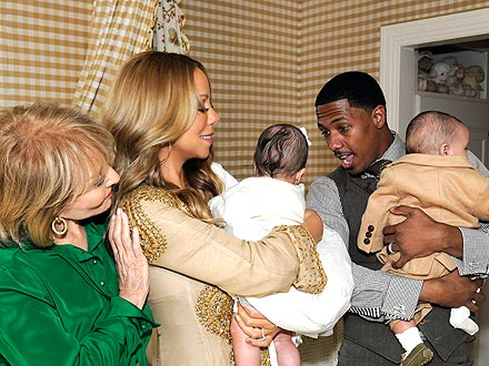 Mariah Carey, Nick Cannon's Twins Photo
