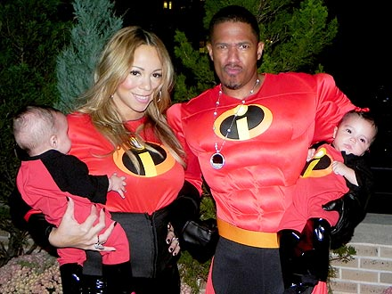 Mariah Carey's Twins' Halloween Dress Up: the Incredibles!