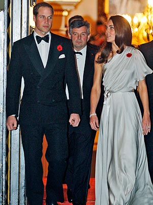 Duchess of Cambridge Stunning in Satin Gown at Dinner