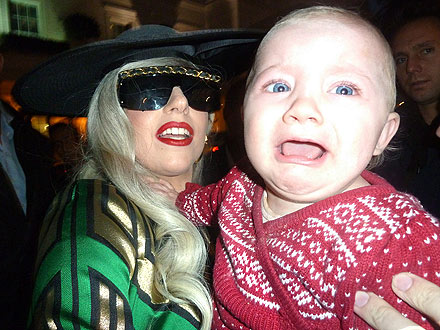 Lady Gaga Frightens Child