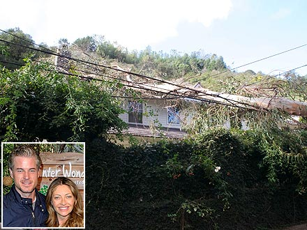 Eric Dane & Rebecca Gayheart's House Hit by Destructive Winds