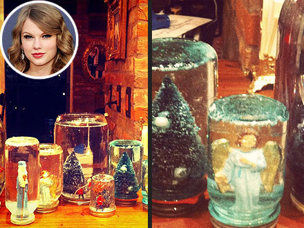 Taylor Swift Making Snow Globes
