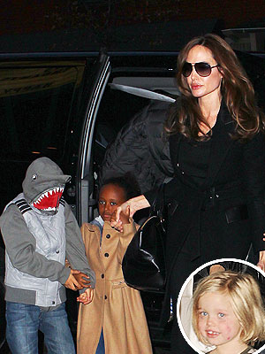 Angelina Jolie & Family See The Muppets