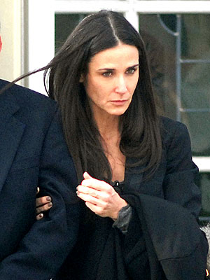 Demi Moore Mourns Close Friend at Funeral
