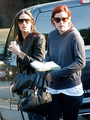 Demi Moore Steps Out with Rumer Willis