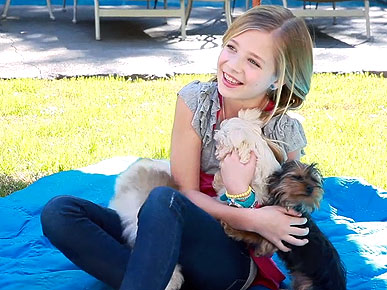 Child Singer Jackie Evancho's Dog Loves to Roll in Duck Poo
