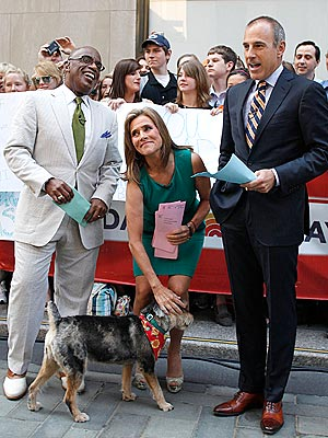 The Water Bowl: Meredith Vieira Brings Her Dog to Her Last Day at 'Today'