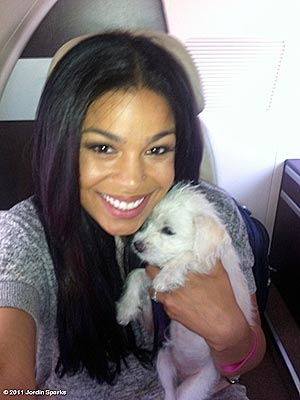 Photo of Jordin Sparks & her Dog