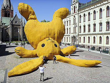 Florentijn Hofman Builds Giant Bunny Rabbit in Sweden