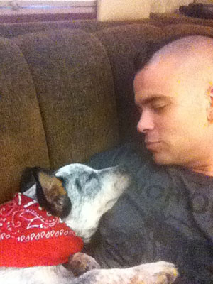 Mark Salling Gets New Dog, Noah