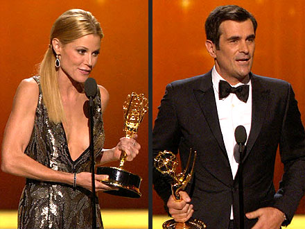 Emmys: Julie Bowen, Ty Burrell Win First Awards