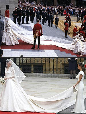 Kate Middleton and Princess Diana Royal Wedding Dresses