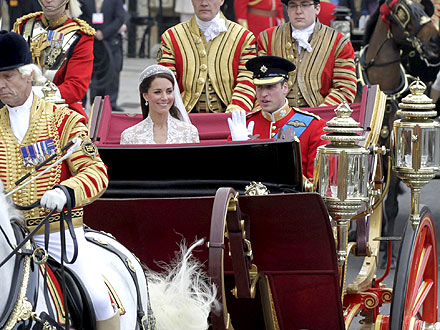 Prince William and Kate Middleton Carriage Ride