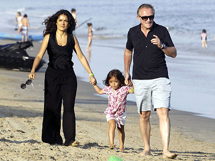 Salma Hayek, Francois-Henris Pinault Celebrate Independence Day in Malibu