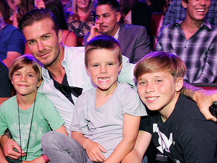 The Beckham Boys Do Lunch – Twice!