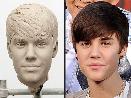 Wax On! Justin Bieber Gets an Early Look at His Madame Tussauds Figure