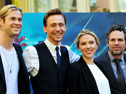 Scarlett Johansson Digs Into Pasta with Avengers Costars in Rome