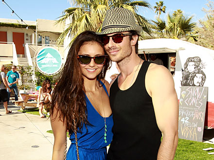 Ian Somerhalder and Nina Dobrev Master the Art of Sneaky PDA in Bel Air