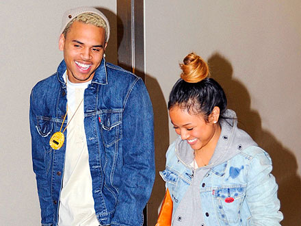 Chris Brown Sprays Champagne in the Club – and Almost Hits Stacy Keibler!