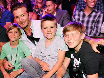 David Beckham Takes His Sons Out for a Boys' Only Movie Day