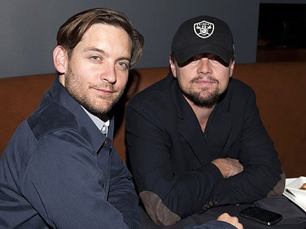 Tobey Maguire Skips the Meat During Steakhouse Dinner with Leo DiCaprio
