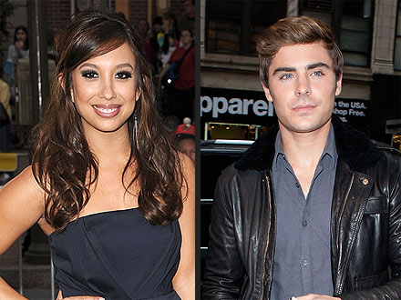 Zac Efron & Cheryl Burke Act Like 'Flirty Friends' During Club Outing | Cheryl Burke, Zac Efron