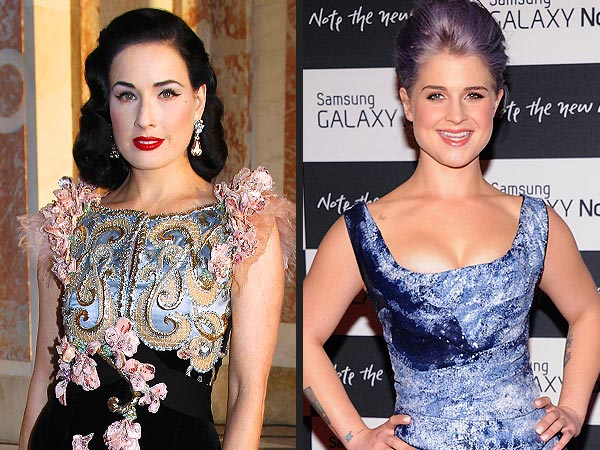 Dita Von Teese & Kelly Osbourne Hang Together in L.A.