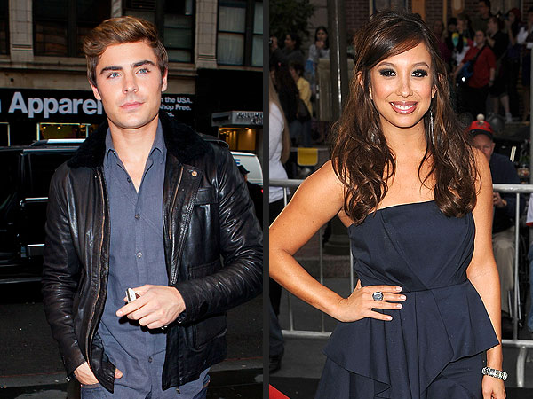 Zac Efron & Cheryl Burke Hang (Separately) at West Hollywood Club