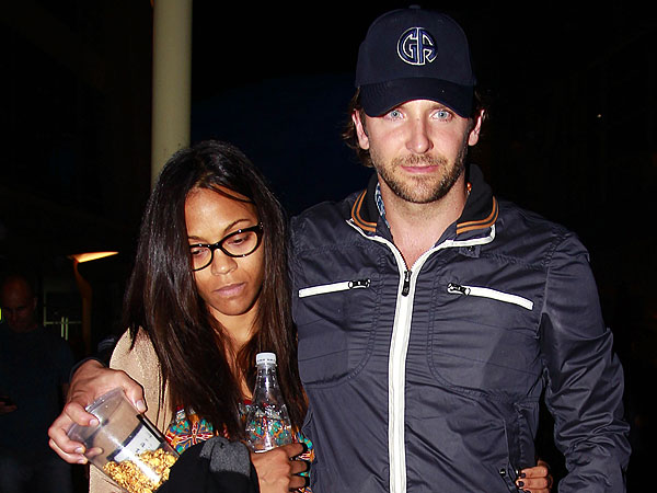 Bradley Cooper & Zoe Saldana's Movie Night in Hollywood