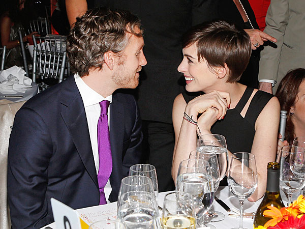 Anne Hathaway & Adam Shulman 'So Happy' in New York