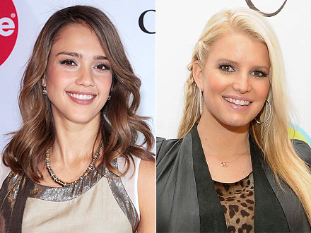 Jessica Alba, Jessica Simpson Bond Over Bodies and Babies