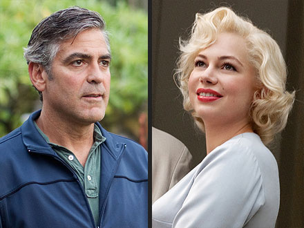 Oscar Nominations: George Clooney, Michelle Williams, Meryl Streep , The Artist