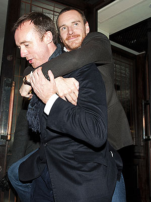 Michael Fassbender Carried Out of Premiere Party