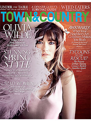 Olivia Wilde in Town & Country on Men, Costars, Divorce