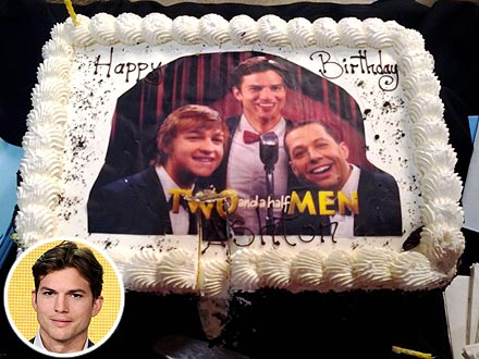 Ashton Kutcher Shares a Picture of His Birthday Cake