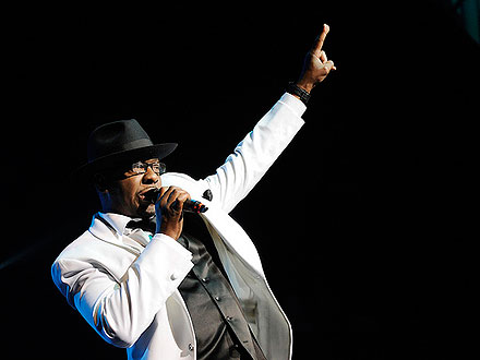 Bobby Brown Leaves Funeral, Performs with New Edition