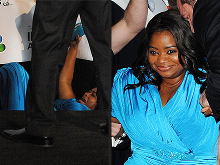 NAACP Image Awards: Octavia Spencer Takes a Fall