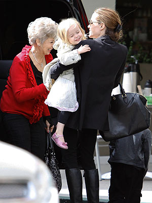 Angelina Jolie Spends the Day with Brad Pitt's Mom – and Her Twins