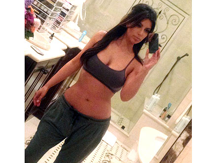 Kim Kardashian Bra and No Makeup Photo