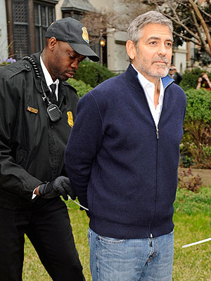 George Clooney Arrested, Protesting at Sudanese Embassy