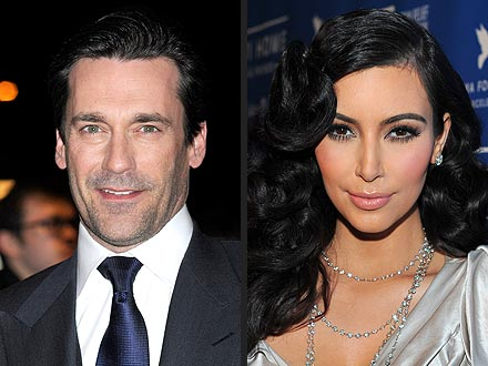 Jon Hamm Calls Kim Kardashian, Paris Hilton Stupid, Kim Replies