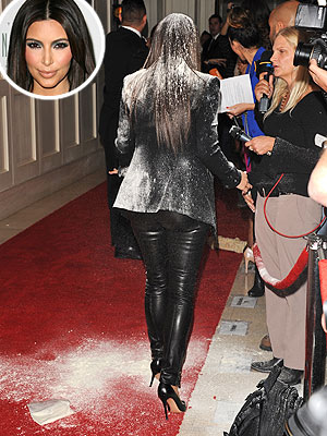 Kim Kardashian Flour Attack! : People.