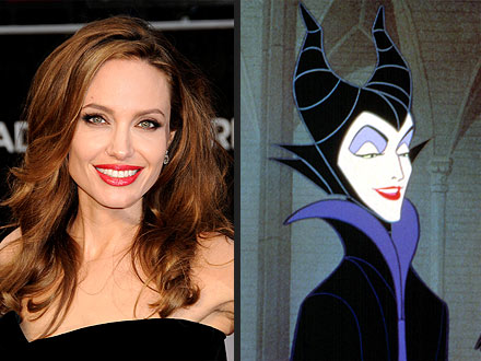 Angelina Jolie as Maleficent for Live-Action Movie
