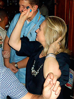 Hillary Clinton Parties in Colombia
