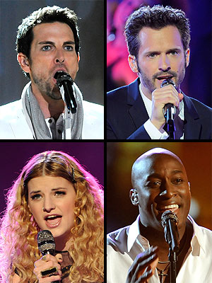 The Voice Finale: Chris Mann, Tony Lucca, Jermaine Paul and Juliet Simms Compete